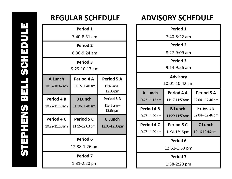 middle school schedule maker