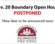 Image for Nov. 20 Open House postponed story
